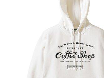 【厚手生地】【あったか】カフェ(COFFEE SHOP)  S~XL パーカ【受注生産品】の画像