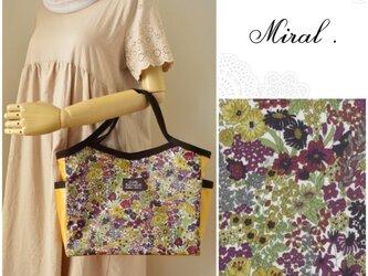 Miral.✻リバティMargaretAnnieマーガレット・アニー✻ビニコのバケットバッグの画像