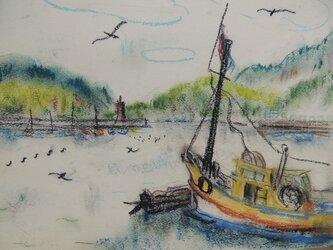 舟のある風景の画像