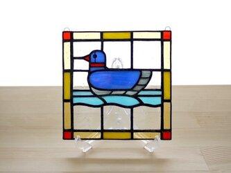 ステンドグラスパネル 水鳥 Mサイズの画像
