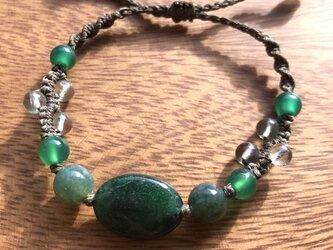 癒しグリーン*天然石ブレスレットの画像