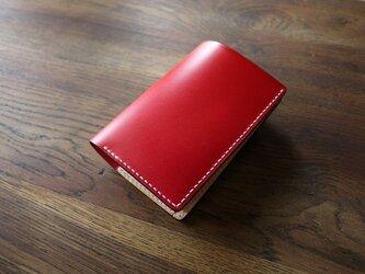 ミディアムサイズの縦長二つ折り財布:TRIP(コインポケットのボタンが隠れる仕様)の画像