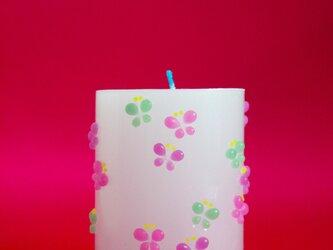 細工蝶々ろうそく(M)ピンク・紫・みどりの画像