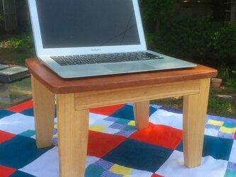パーソナルPCテーブル(天板柿渋塗装)の画像