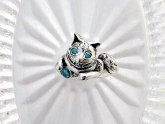 お金を招いちゃうチュシャ猫のリングの画像