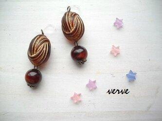 bonbon pierce chocolate (樹脂ピアス)の画像