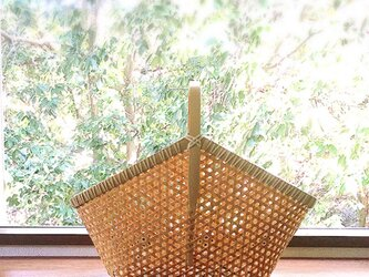 鉄線編み三角細目かごの画像