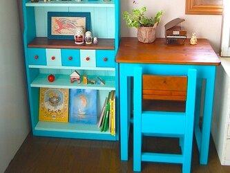 ∞大人の子ども机と椅子と棚∞の画像