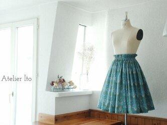 Liberty:hera チュチュみたいなギャザースカート(ブルー)の画像