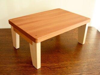 キッズテーブル(小)・天板柿渋塗装・用途いろいろの画像