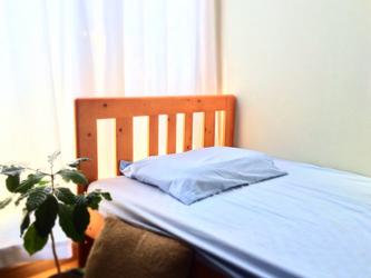 【送料無料】光で抗菌消臭する枕カバー(封筒式・サックス・M・43cm×63cm)綿100%の画像