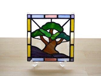 ステンドグラスパネル 松 Mサイズの画像