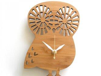 Decoylabの掛け時計 OWL-S フクロウの画像
