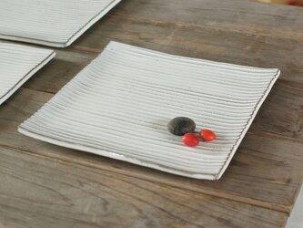 白い陶板のお皿(スクエア/大)の画像
