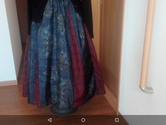 変形フレアー スカート 【 1 】  一点品の画像