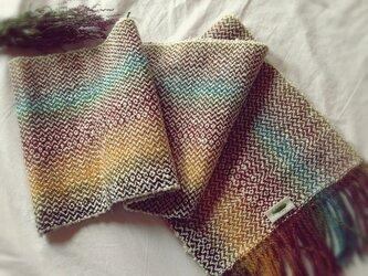 手織り リトアニアウール 月の虹の画像