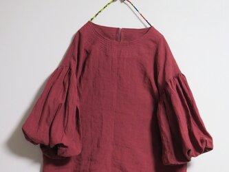 春色ボリューム袖ブラウス(イチゴ)の画像