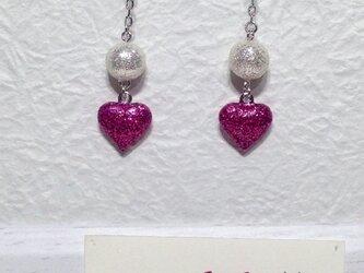 グリッターボール&ハート (ピンク)の画像
