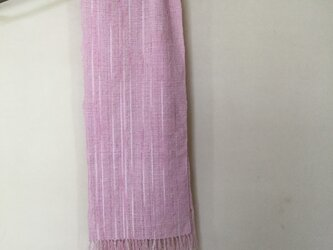 手織りのストール  (さくら、さくら)の画像