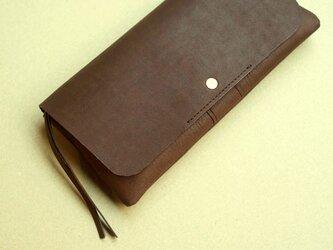 やわらかい革の長財布 ヌバック(牛革)の画像