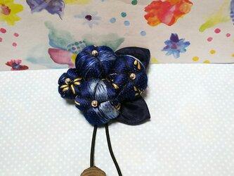 割引*和のどんぐり帽子の花のブローチの画像