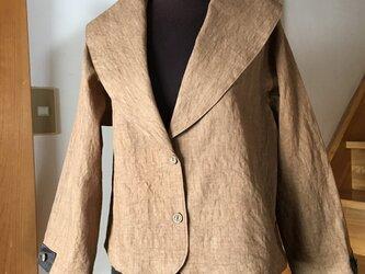 #116 柿渋染め 大きな衿のジャケットの画像