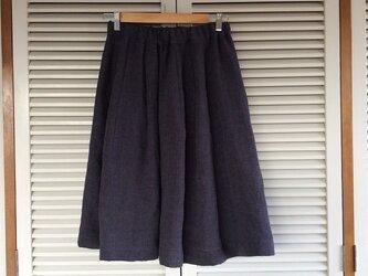 受注制作:リネン・シャンブレー・パープルのほおずきスカート4色の画像
