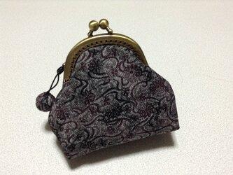 989    ☆再販☆     少しラメっぽい濃い紫の小さいがまぐちの画像