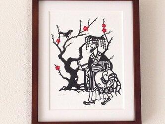 童話切り絵「小夜鳴鳥」の画像