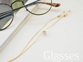 gc113 眼鏡チェーン コットンパールの画像