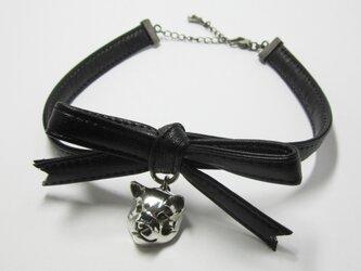 柴犬 RIBBON CHORKER(黒)の画像