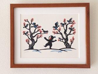 切り絵「小鳥たち」の画像