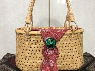 鉄線編みミニバッグ(すず竹)の画像
