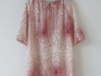 菊着物からのチュニックワンピースの画像