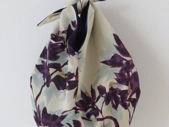 紫系正絹地と銘仙のあずま袋の画像