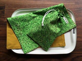 ランチセット(キッズ&おとな/給食袋&ランチクロス)の画像