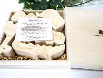 動物の積み木(オリジナル木箱入り)の画像