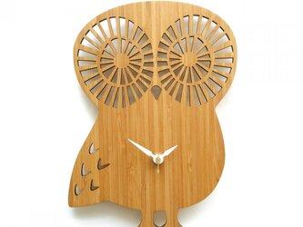 フクロウの掛け時計 OWL(数字なし)の画像