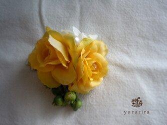 【SOLD OUT】小さなバラの爽やかコサージュの画像