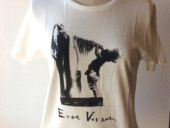 手刷りTシャツ Ladies M【Eros Versus T1-M】の画像