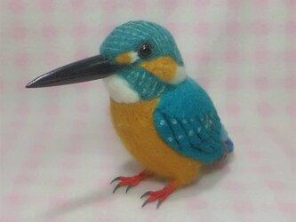 リアルサイズ♪ カワセミ 水辺の青い宝石  羊毛フェルトの画像