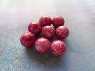 *♥*Vintage West German Rose Red Picasso Beads*♥*の画像