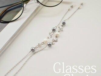 gc114 眼鏡チェーン コットンパール 淡水パールの画像