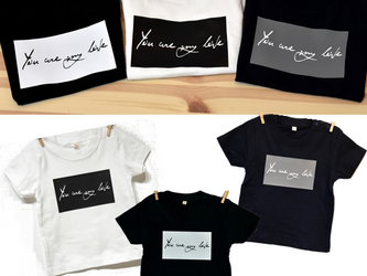 70サイズ~大人サイズまで★you are my love Tシャツ★ロンパースも可能の画像