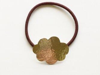 真鍮雲ヘアゴム(gold)の画像