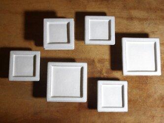 【豆プレート4】豆皿 白妙 スクエアの画像
