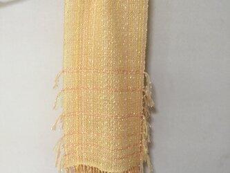 手織りのストール  (フリージヤー)の画像