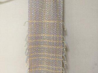 手織りのストール  (すみれ)の画像