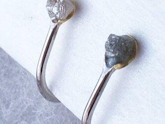 ダイアモンド原石◇イヤリングの画像
