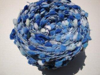 水色ポコポコ糸の画像